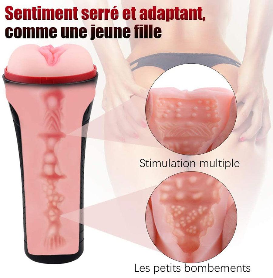 test et avis Sohimi Masturbâteur pour Homme 3D Vagin Silicone